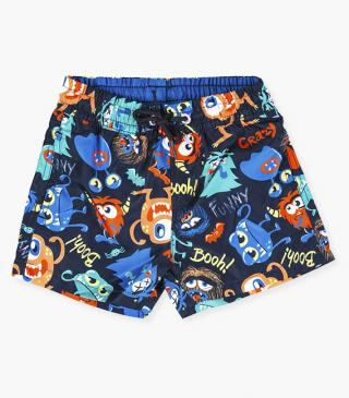 Monster swim trunks.