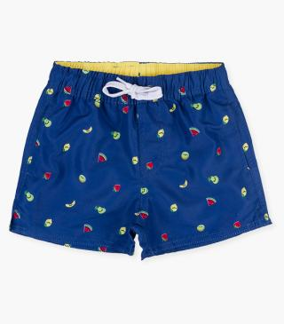 Fruit motif swim trunks.
