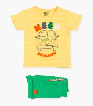 Van embroidery t-shirt & shorts set.