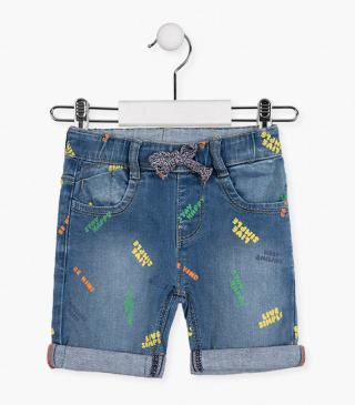 Shorts with rainbow graphic details.