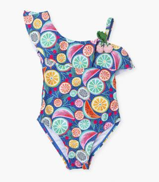 Fruit print swimsuit.
