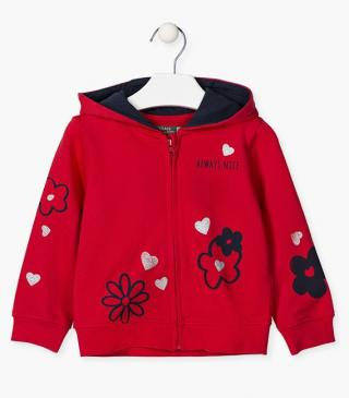 Cotton jacket with hearts.