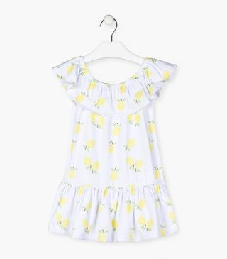 Lemon print dress.