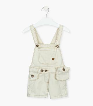 Organic cotton dungaree.