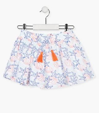Starfish and shell print skirt.
