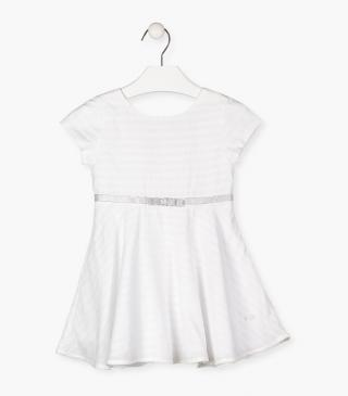 Short sleeve dress in white.