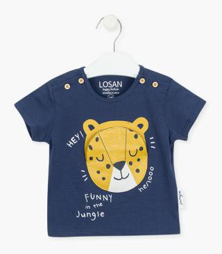 T-shirt with printed tiger.