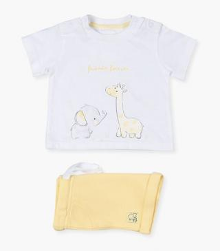 Animal t-shirt & shorts set.