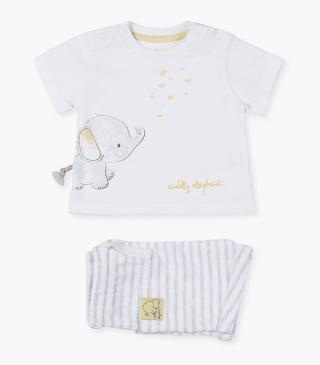 Elephant t-shirt & shorts set.