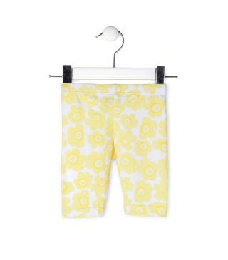 Legging amarillo estampado.