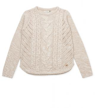 Jersey en color natural beige vigoré con ochos.