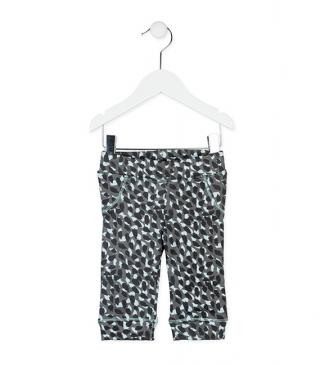 Legging de felpa estampado animal.