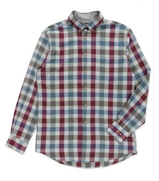 Check long sleeve cotton shirt.