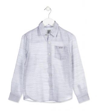 Grey shirt with embroidered pocket.