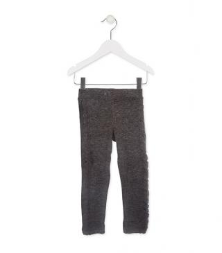 Knit-effect trousers.