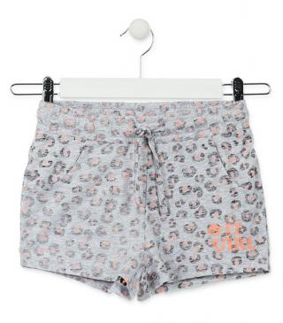 Short de punto con estampado interior animal.