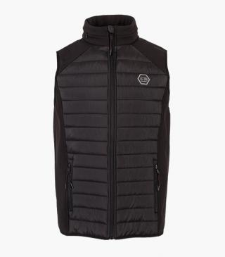 Quilted fabric-mix vest with neoprene.
