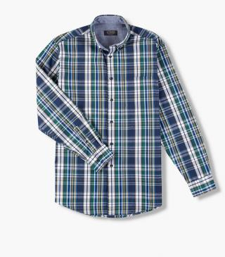 Shirt with long sleeves and breast pocket.