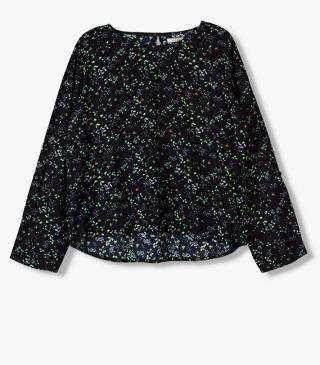 Navy blouse.