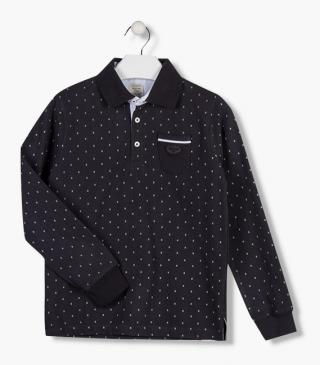 Pocket polo with long sleeves.