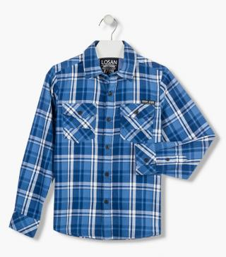 Check shirt in a cotton fabric.