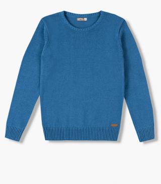 Cotton jumper with a round neck.