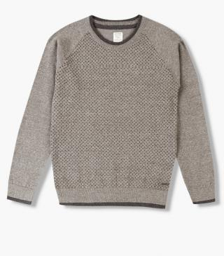 Dot front knit jumper.