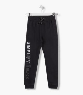 Elasticated waistband trousers in plush.