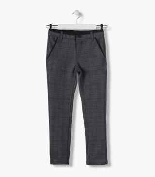 Trousers in checked fabric.