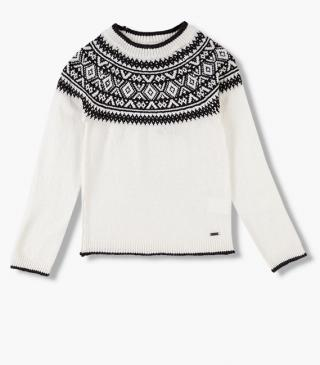 Ecru knit jumper.