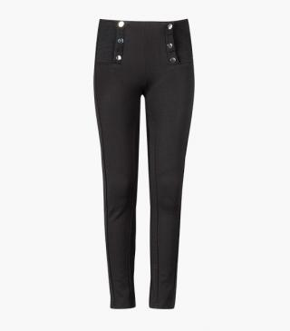 Jersey trousers with button front detail.