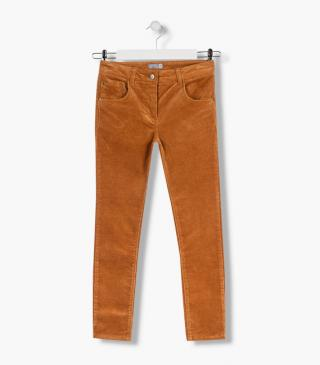 Trousers crafted from micro-corduroy.
