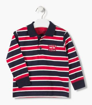 Polo in jersey a righe.