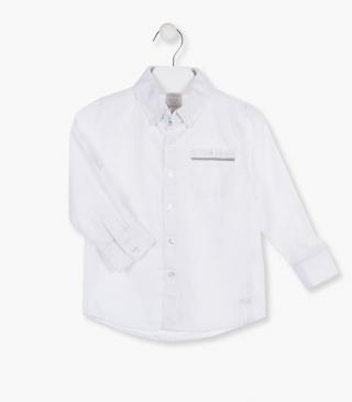 Cotton shirt in white.