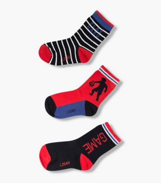 Athletic knit socks 3-pack.