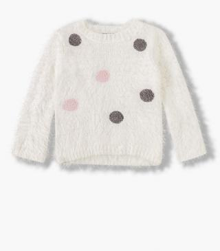 Dotted embroidery front jumper.