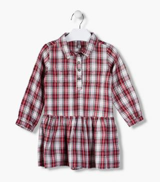 Checked shirt dress.