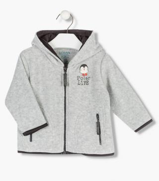 Penguin appliqué jacket.