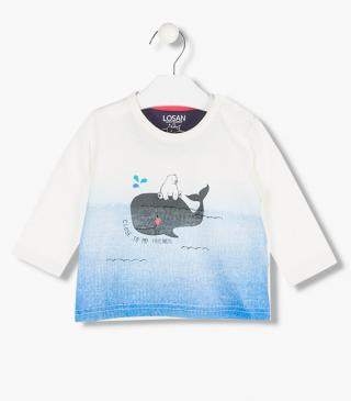 Printed whale and bear top.