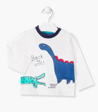 Dinosaur and crocodile design t-shirt.
