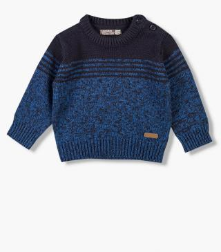 Navy and tri-blend blue jumper.