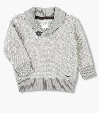 Tri-blend grey knit jumper.