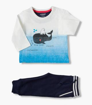 Whale and bear top & trousers set.