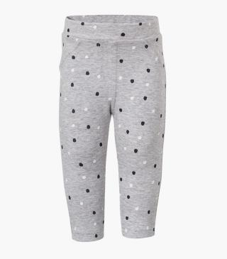Trousers with a dot print.