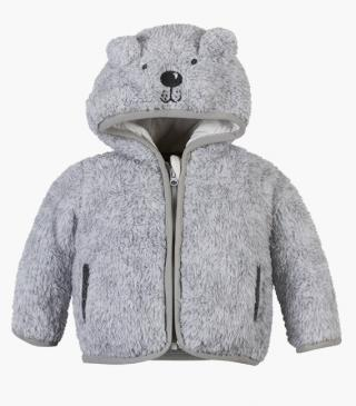 Bear embroidery hood jacket.