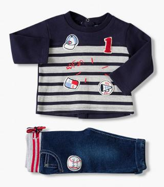 Baseball patch trousers & top set.