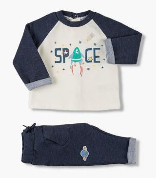 Spacey print sweatshirt & trousers set.