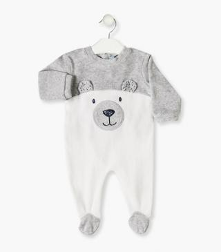 Bear front sleepsuit.