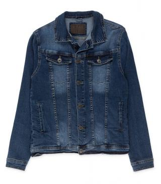 Essential collection denim jacket with pockets for man