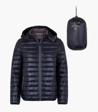 Quilted jacket with hood from our range of everyday essentials for man